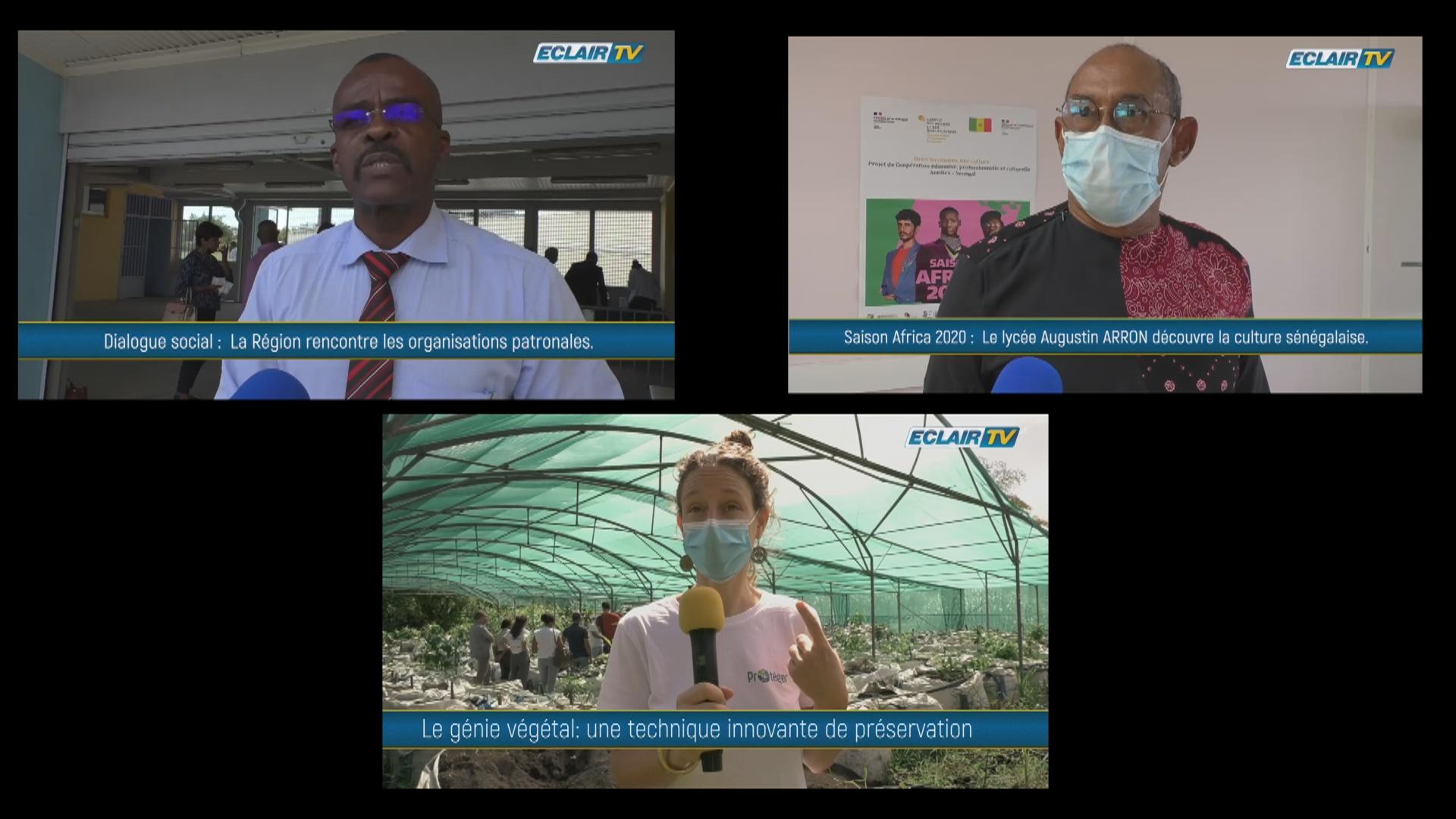 [vidéo] Onews Guadeloupe. Le flash Infos avec ECLAIR TV
