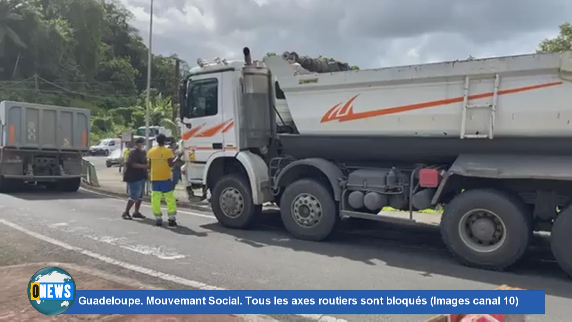 [Vidéo] Onews Guadeloupe. Flash spécial sur le blocage des axes routiers. Réaction de Jean Yves RAMASSAMY