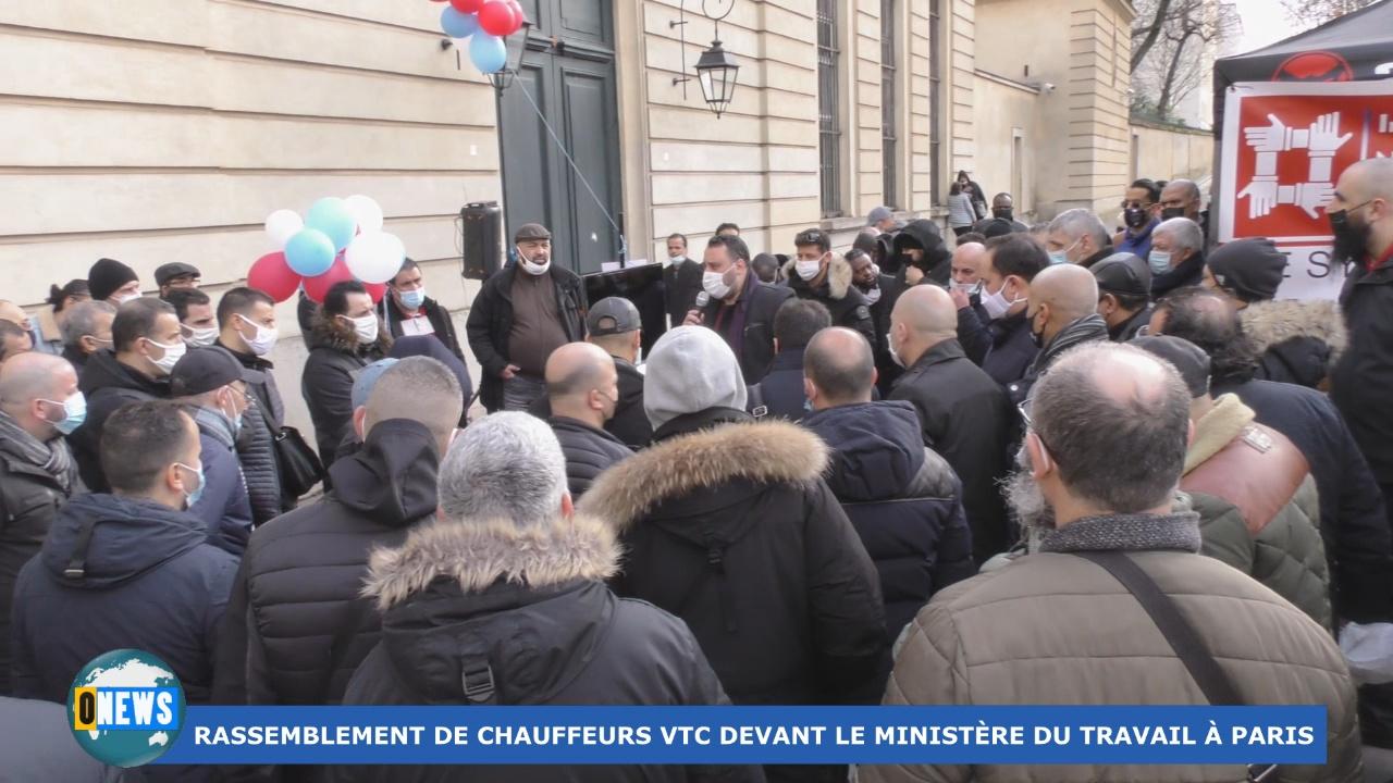 [Vidéo]Haxagone. Rassemblement des chauffeurs VTC à Paris
