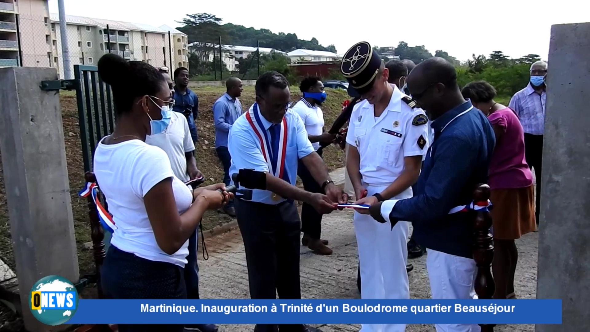[Vidéo] Onews Martinique. Inauguration à Trinité d'un Boulodrome quartier Beauséjour