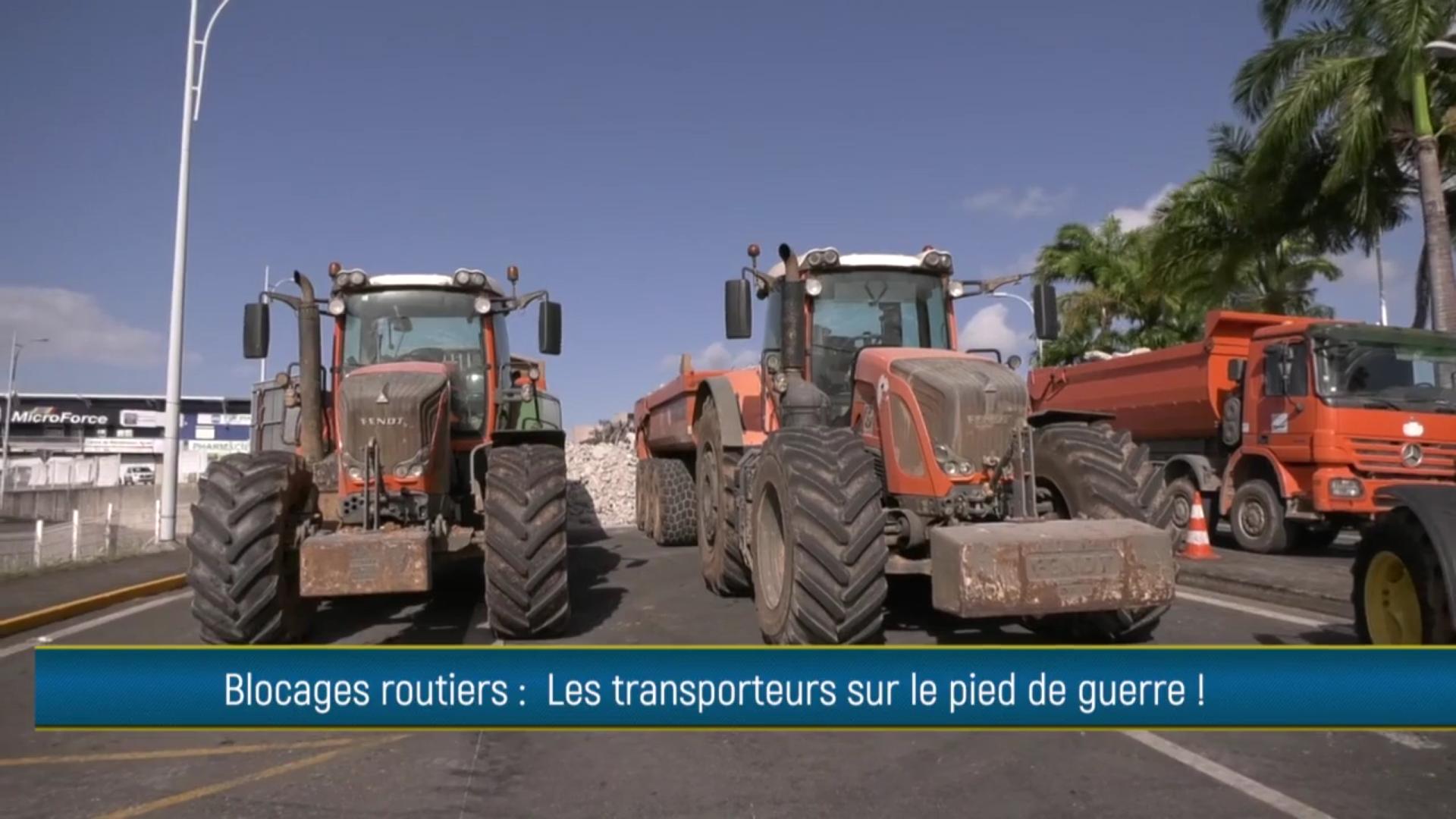 [Vidéo] Onews Guadeloupe. Blocage des axes routiers. Le flash Info de ECLAIR TV