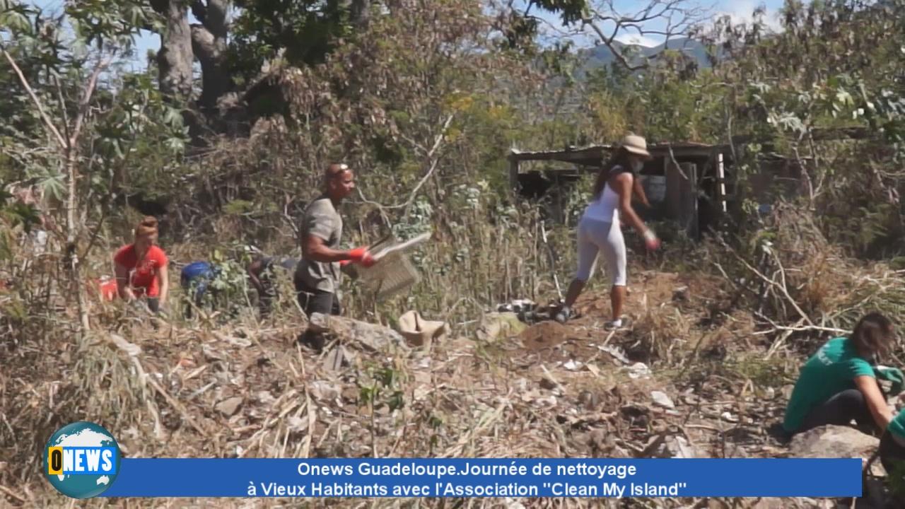 [Vidéo] Onews Guadeloupe. Journée de nettoyage à Vieux Habitants avec l'Association Clean My Island.