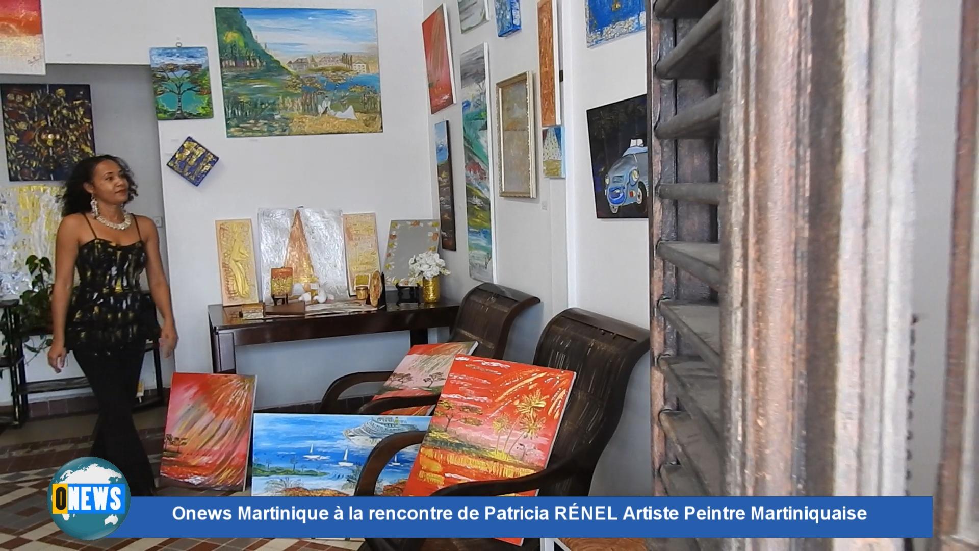 [Vidéo] Onews Martinique à la rencontre de Patricia RÉNEL Artiste Peintre Martiniquaise.