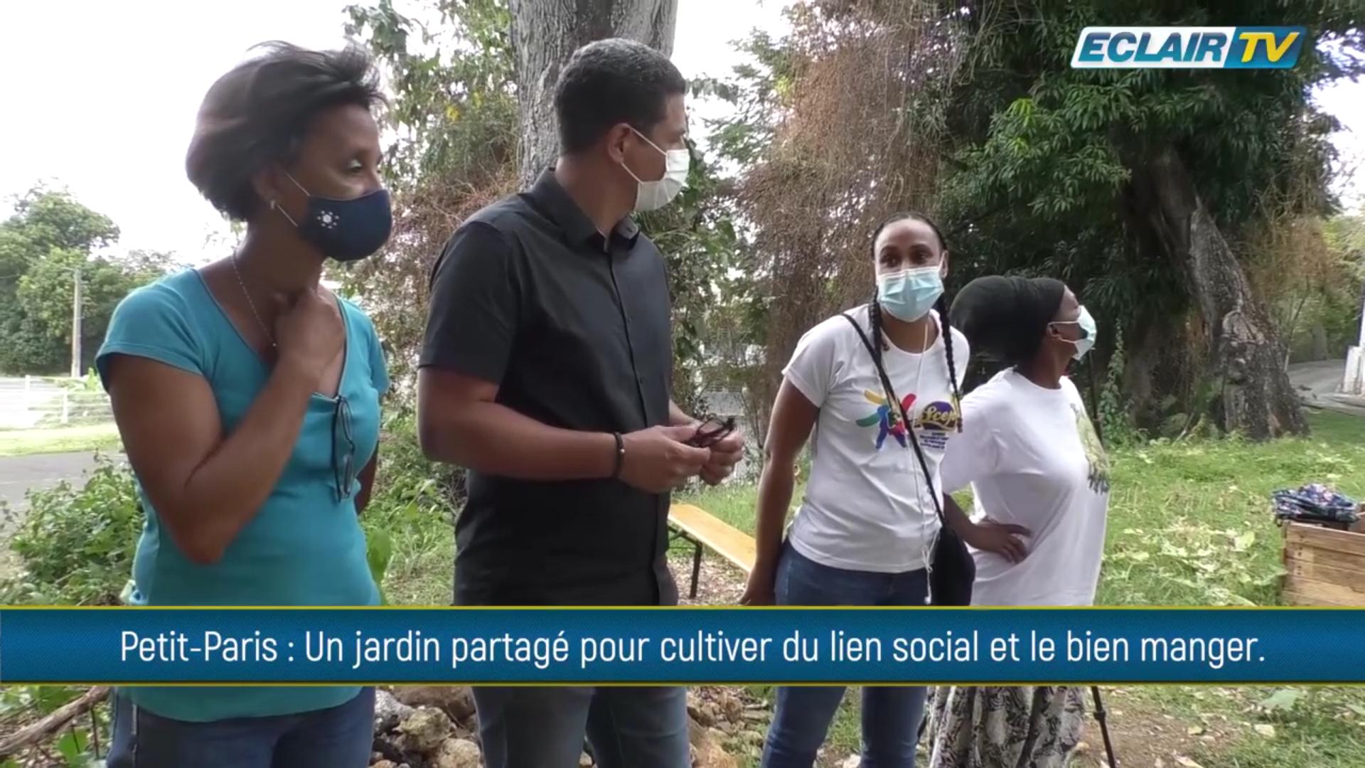 [Vidéo] Onews Guadeloupe.  A Petit Paris Basse Terre jardin potagé pour cultiver du lien social et bien manger (ECLAIR TV)