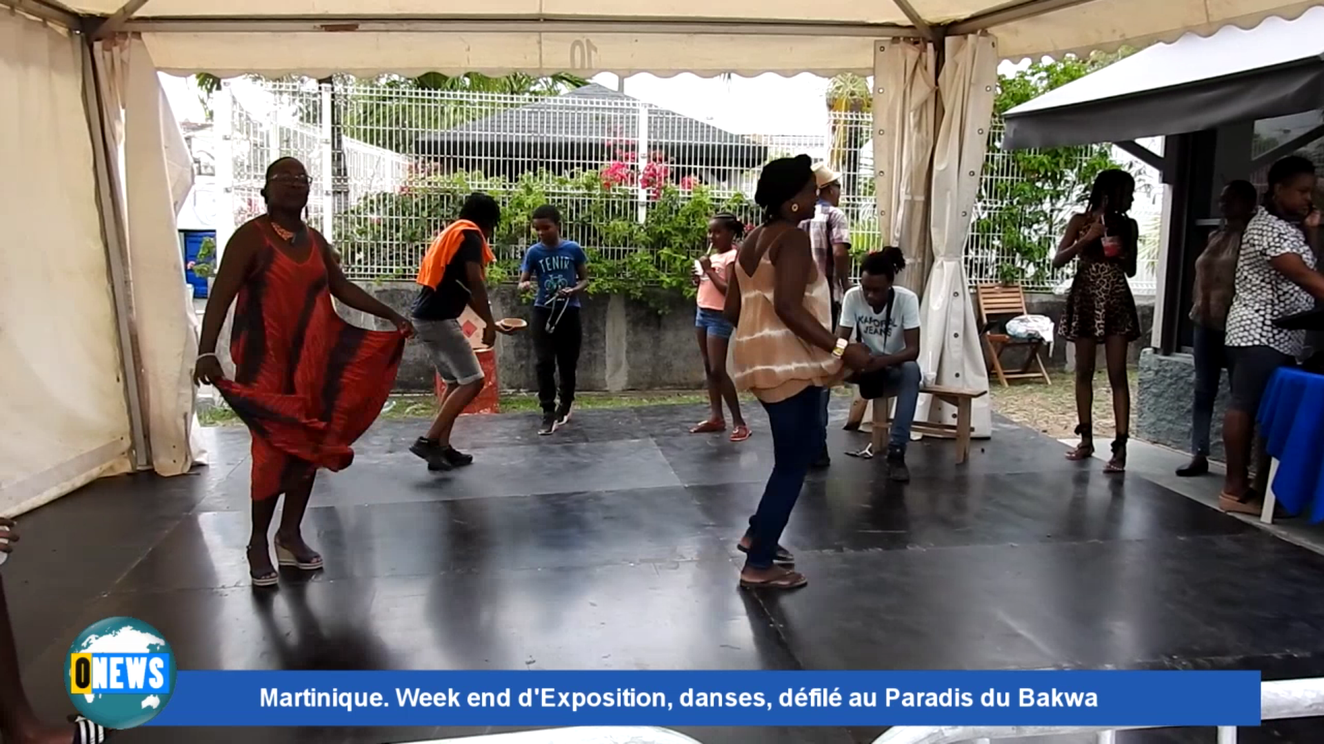 [Vidéo] Onews Martinique. Week end d'exposition, danses, défilé au paradis du Bakwa