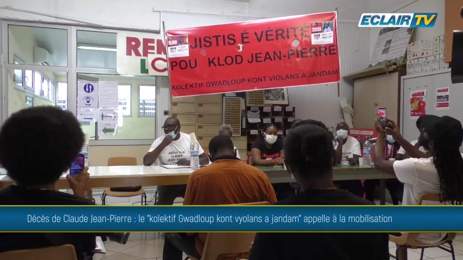 Onews Guadeloupe. Décès de Claude JEAN Pierre, un Collectif appelle à la mobilisation (Eclair TV)