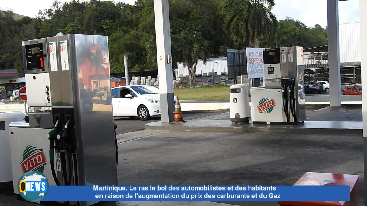 Onews Martinique. Augmentation prix carburants et Gaz. Le ras le bol des usagers.