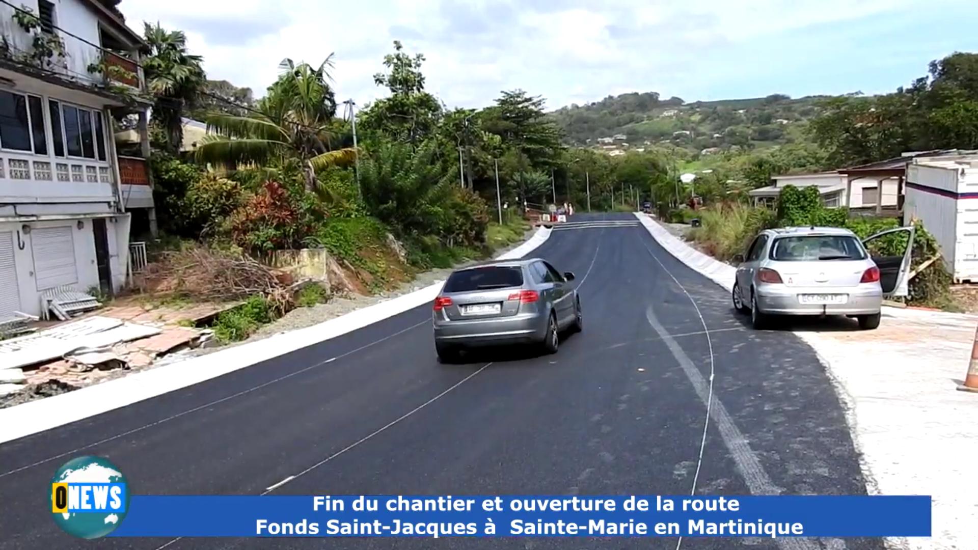 Onews Martinique. Fin du chantier et ouverture de la RN  Fonds Saint Jacques