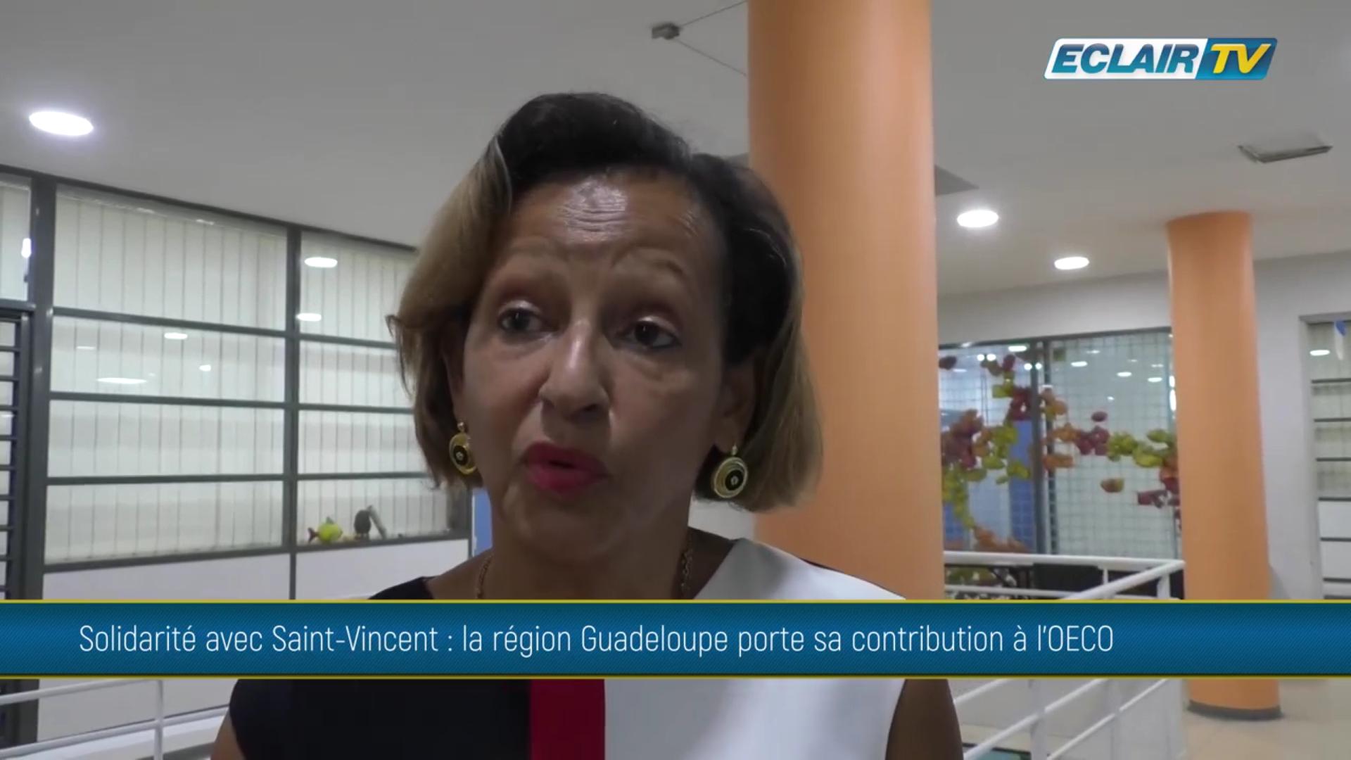 Onews Guadeloupe. La Région vient en aide à l île de Saint Vincent suite à l'éruption volcanique de la Soufrière (ECLAIR TV)