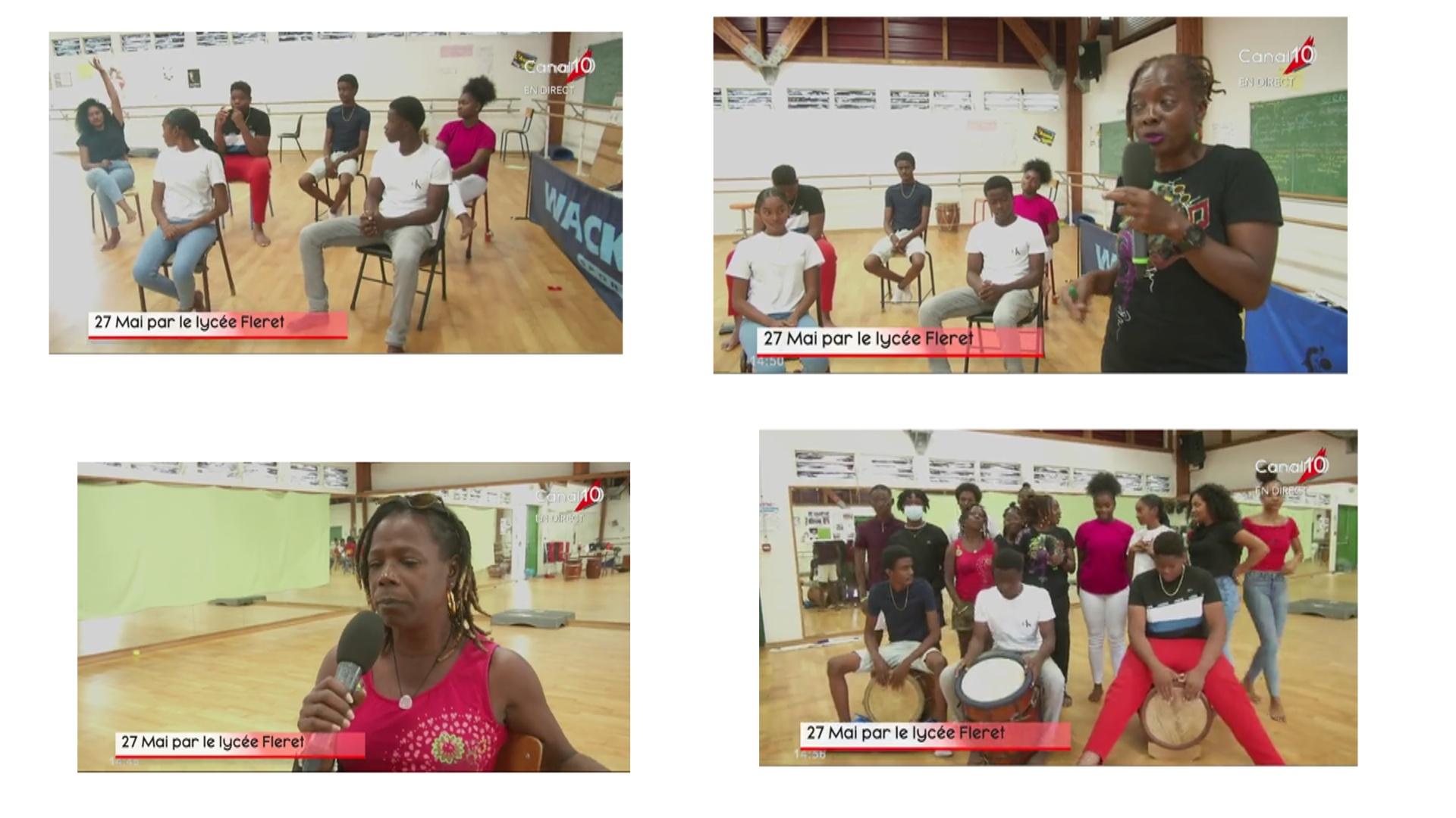 [Vidéo] Onews Guadeloupe. le 27 mai abolition de l esclavage. Manifestation au Lycée Fléret de Morne à l'Eau