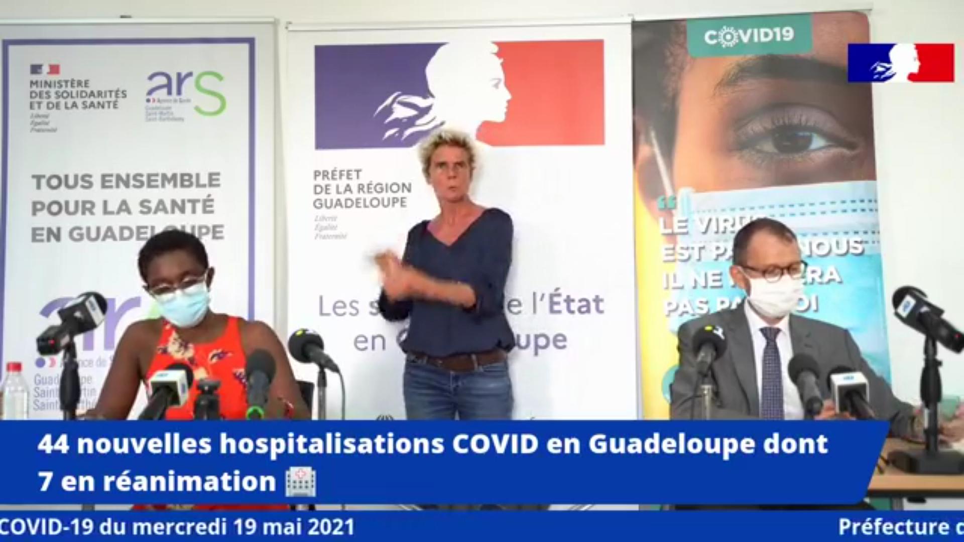 [Vidéo] Onews Guadeloupe. Covid. Lente amélioration. Mesures de confinement maintenues jusqu'au 25 mai