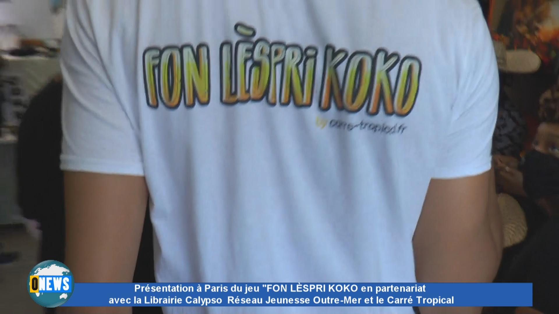 [Vidéo] Onews Hexagone. Présentation à Paris du jeu «FON LÈSPRI KOKO» à la Librairie Calypso