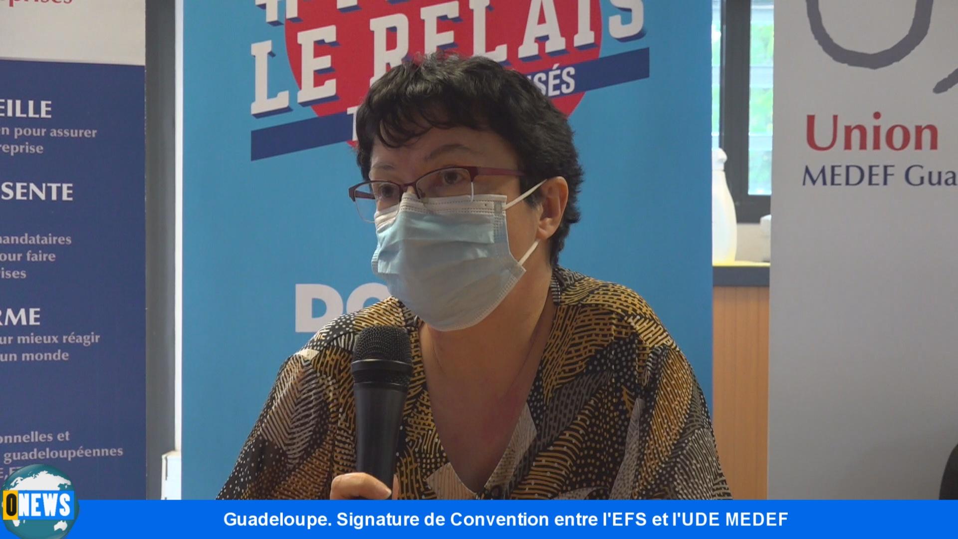 [Vidéo]Onews Guadeloupe. Don du sang. Signature de convention entre L'EFS et le MEDEF