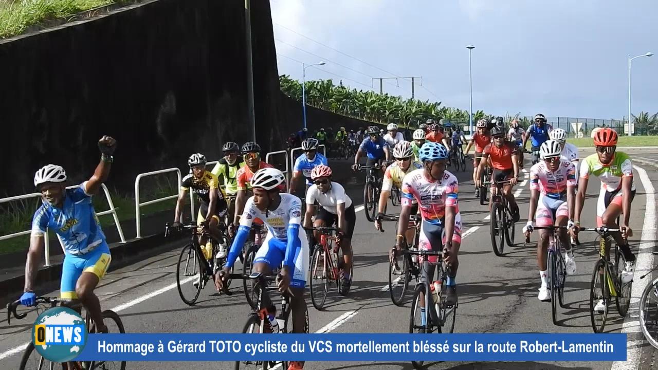 [Vidéo] Onews Martinique. Rassemblement en hommage à Gérard TOTO cycliste mortellement blessé sur la route