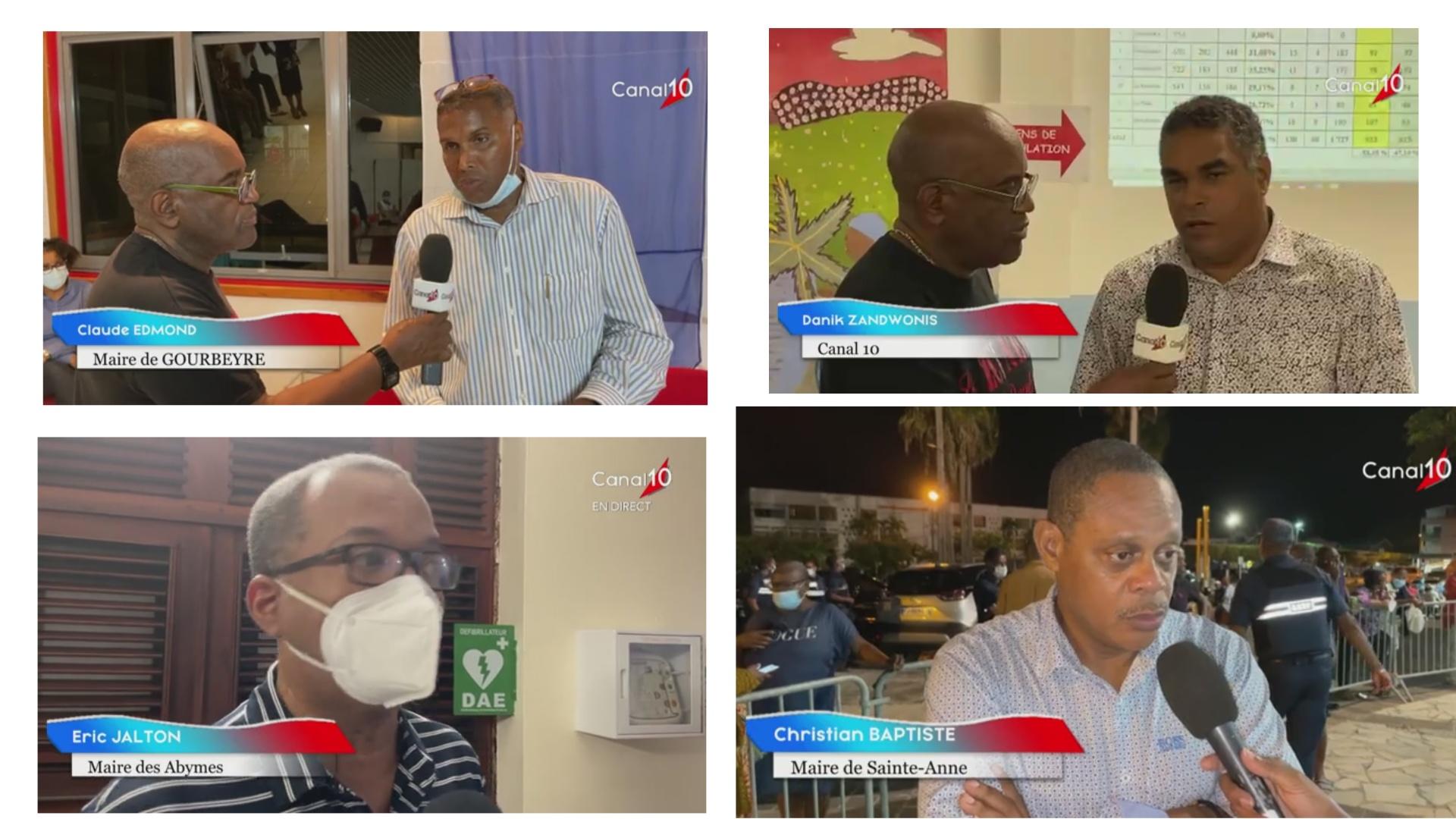 [Vidéo] Onews Guadeloupe. Soirée électorale. Réactions et Résultats (Canal 10) suite