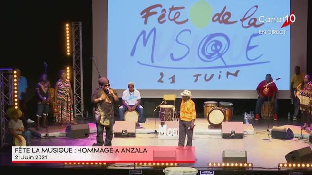 [Vidéo] Guadeloupe. Fête de la Musique. Hommage à Anzala (Canal 10)