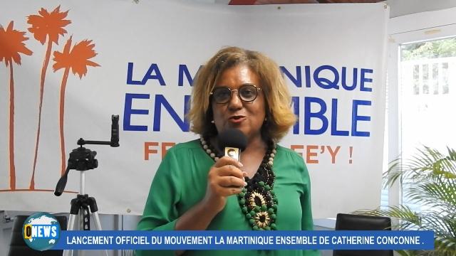 [Vidéo]Martinique. Catherine CONCONNE lance son mouvement «La Martinique Ensemble»