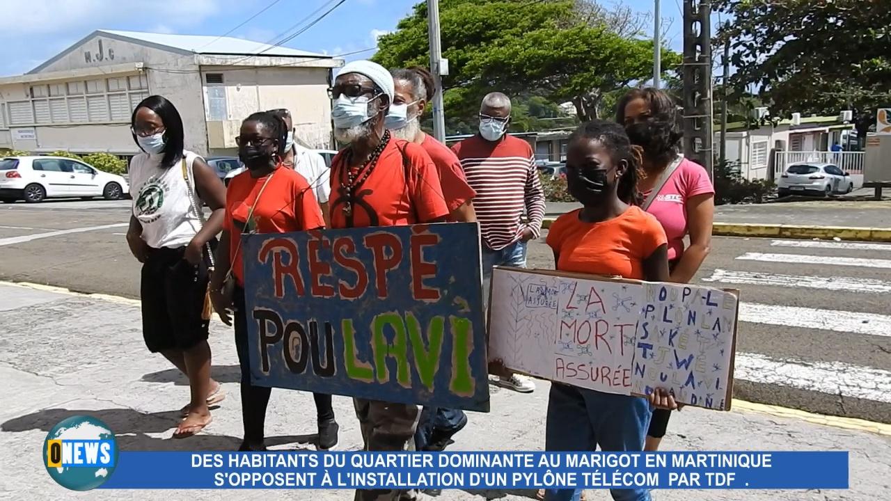 [Vidéo] Martinique. Des habitants au Marigot s'opposent à l installation d un Pylône TDF.