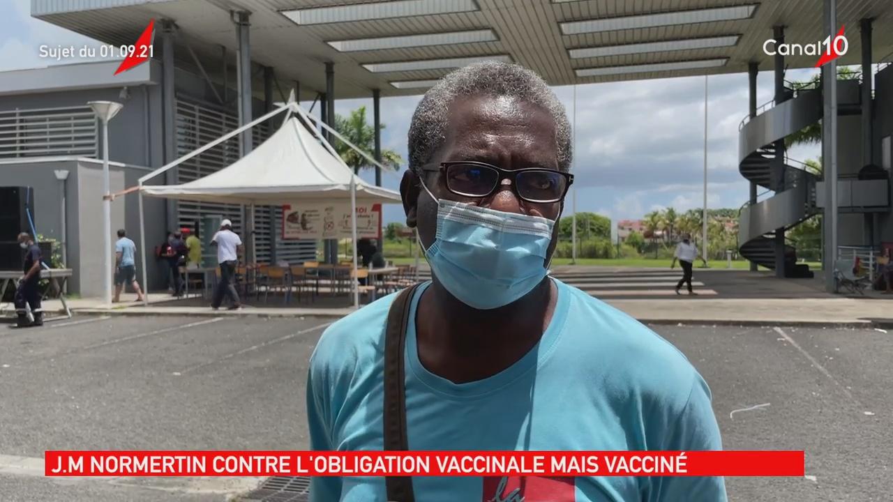 [Vidéo] Guadeloupe. Jean marie NOMERTIN CGTG vacciné mais est contre l obligation