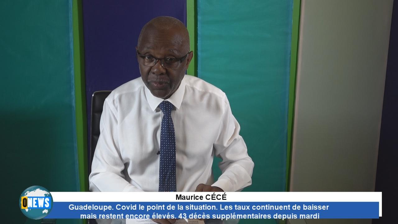 Guadeloupe. Point Situation covid. Légère baisse de contaminés. 43 décès depuis mardi