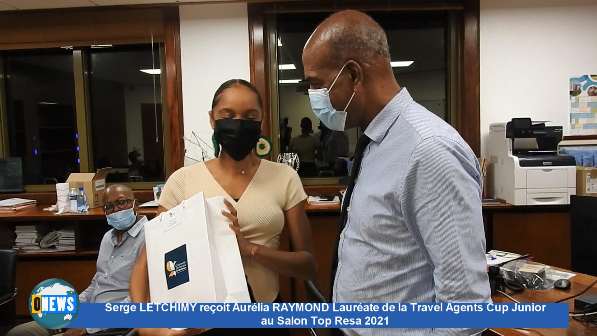 [Vidéo] Martinique. Serge LETCHIMY Président du Conseil exécutif de la CTM   reçoit Aurélia RAYMOND Lauréate de la Travel Agents Cup Junior au Salon Top Resa 2021