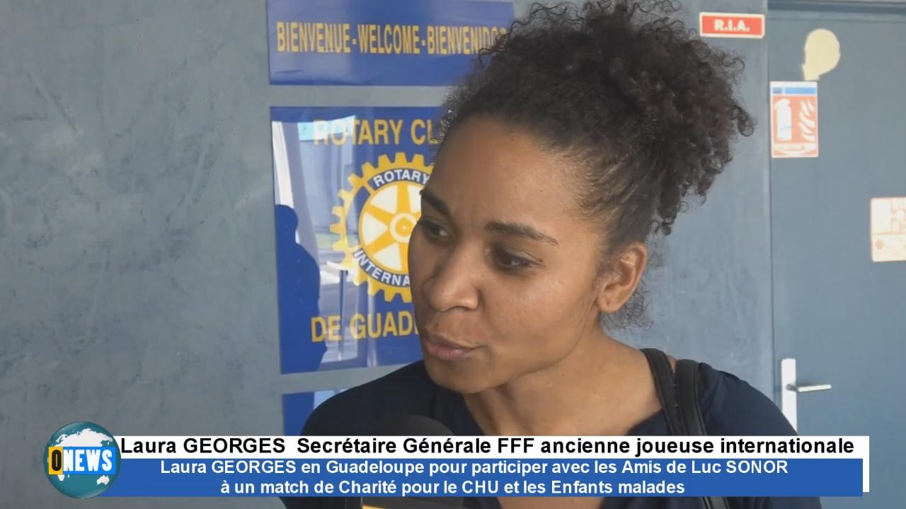 [Vidéo] ONEWS Guadeloupe. Laura GEORGES ancienne joueuse internationale en Guadeloupe pour un match de charité en faveur du CHU et des enfants malades.