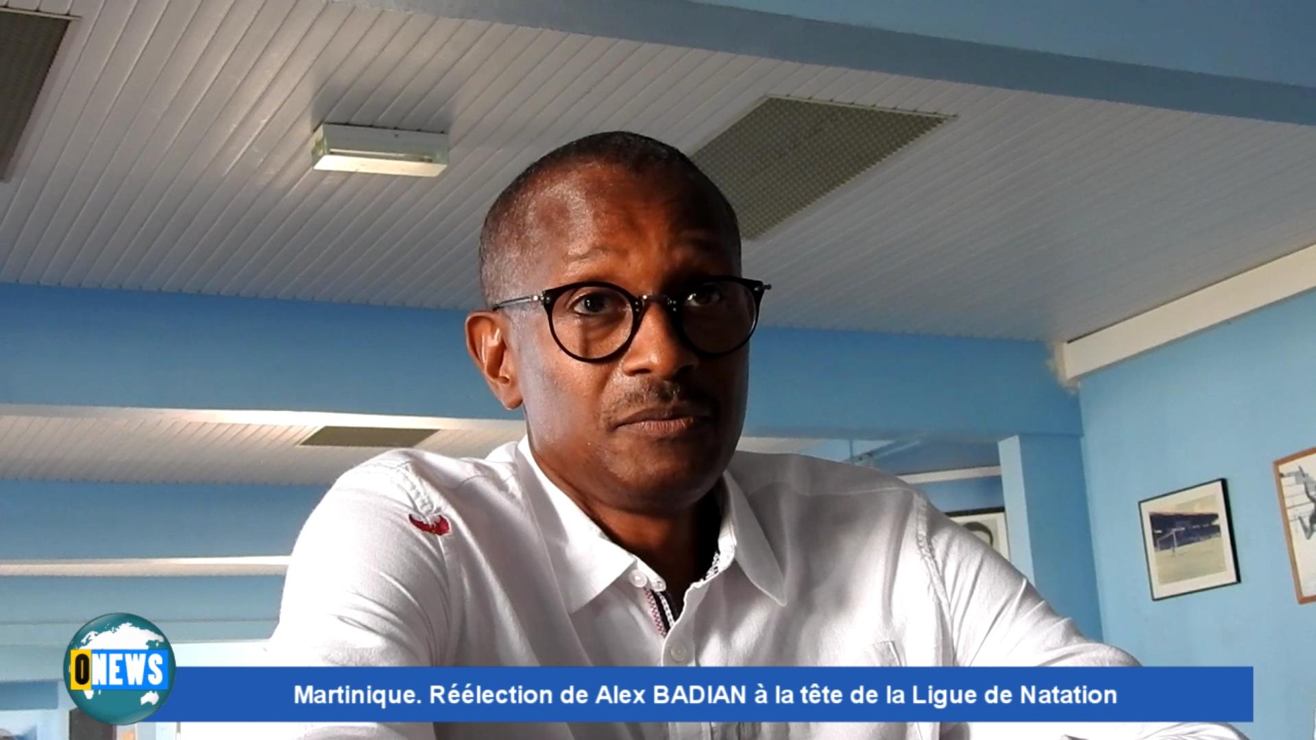 Onews Martinique. Alex BADIAN Réélu Président de la Ligue de Natation