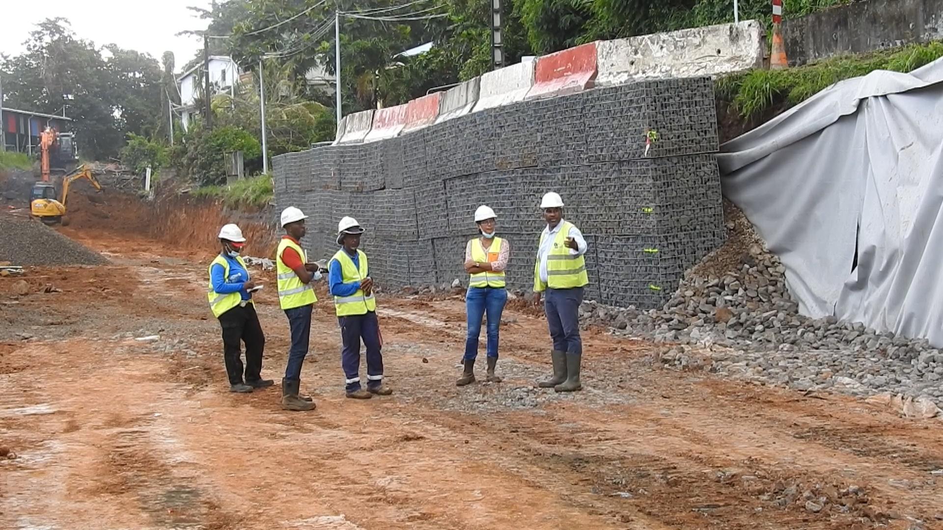 [Vidéo] Onews Martinique.Vaste chantier sur la RN1 Fonds saint Jacques après les intempéries
