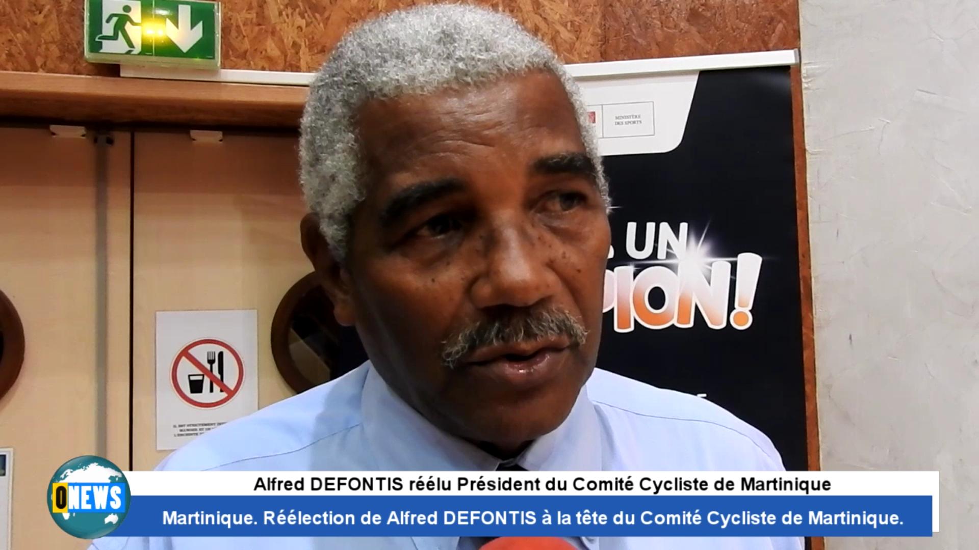 Onews Martinique. Alfred DEFONTIS Réélu Président du Comité Cycliste de Martinique