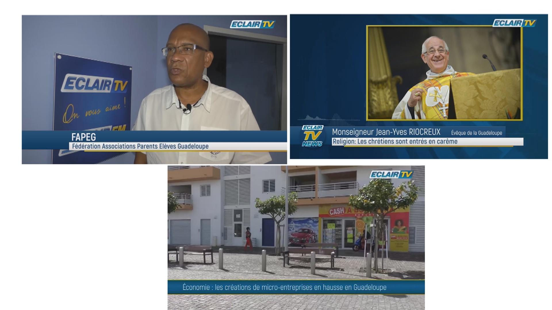 [Vidéo]  Onews Guadeloupe. Flash Infos (Eclair TV)