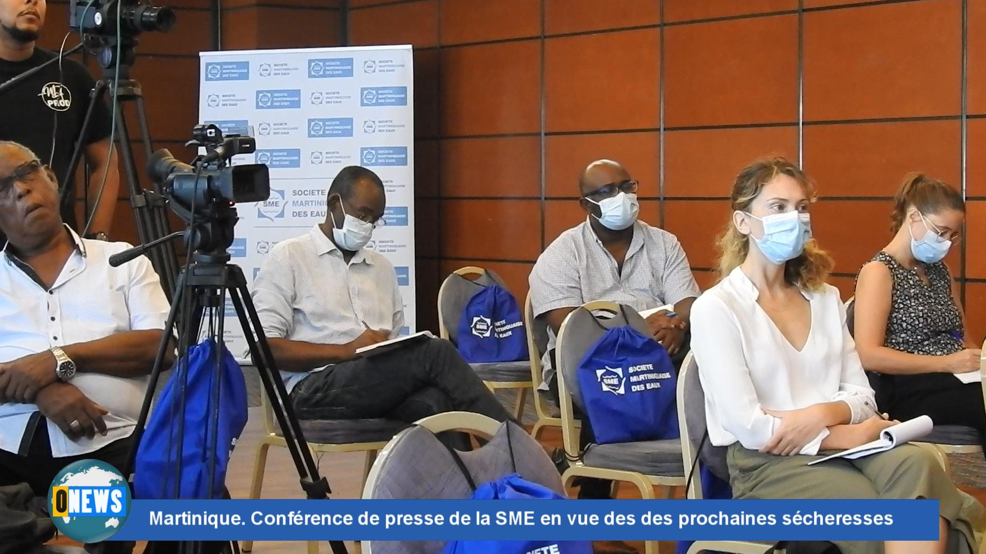 [Vidéo] Martinique. Conférence de presse de la SME en vue des des prochaines sécheresses
