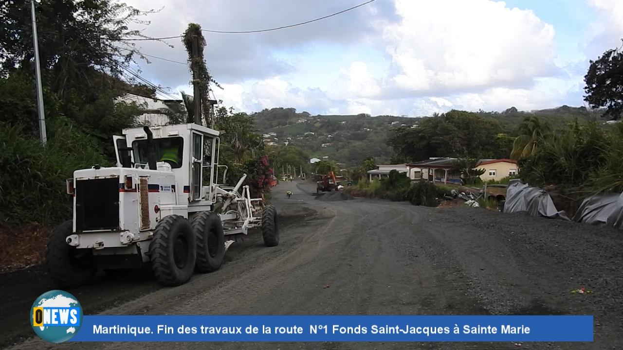 [Vidéo] Onews Martinique. Fin des travaux de la route N°1 Fonds Saint-Jacques à Sainte Marie
