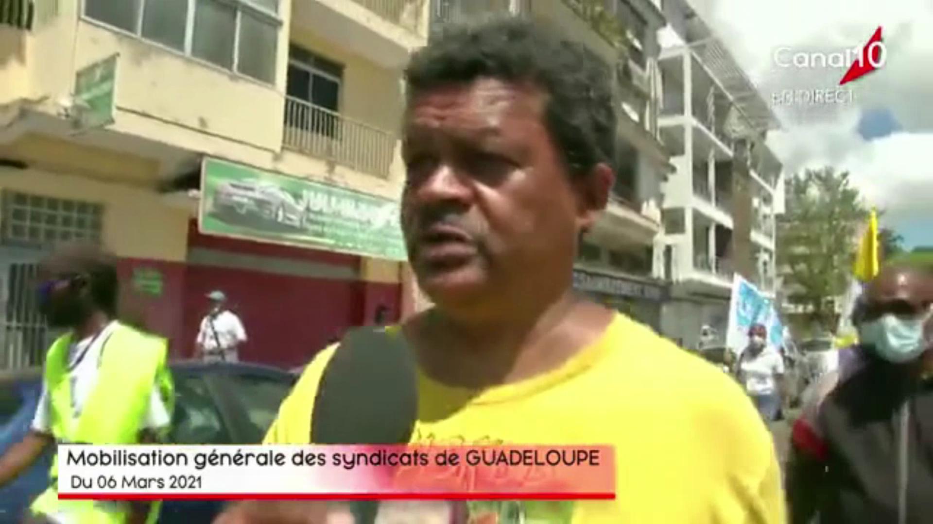 [Vidéo] Onews Guadeloupe. Manifestation sociale à l appel de plusieurs organisations syndicales (Canal 10)