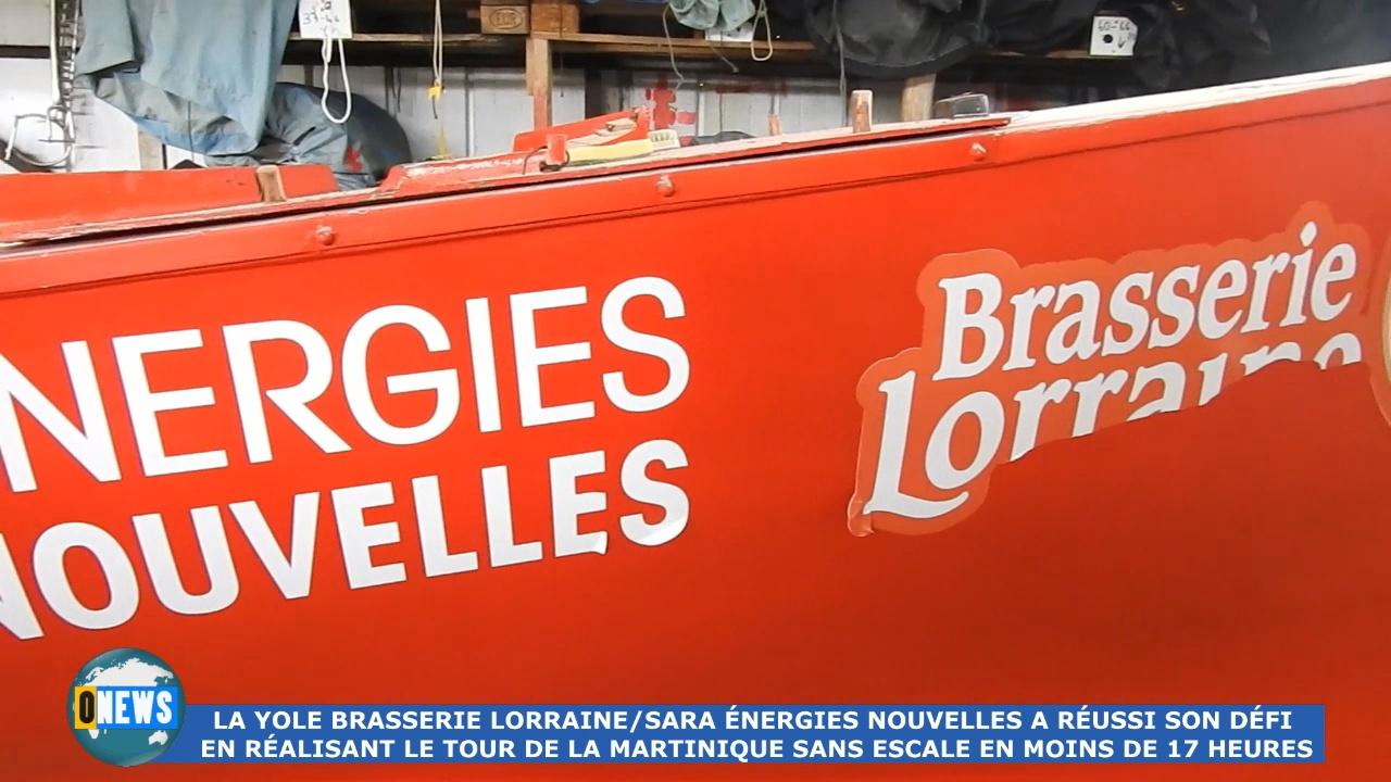 [Vidéo] Onews Martinique. Tour de la Martinique sans escale réalisé par la yole Brasserie Lorraine /Sara Énergies nouvelles en moins de 17h.