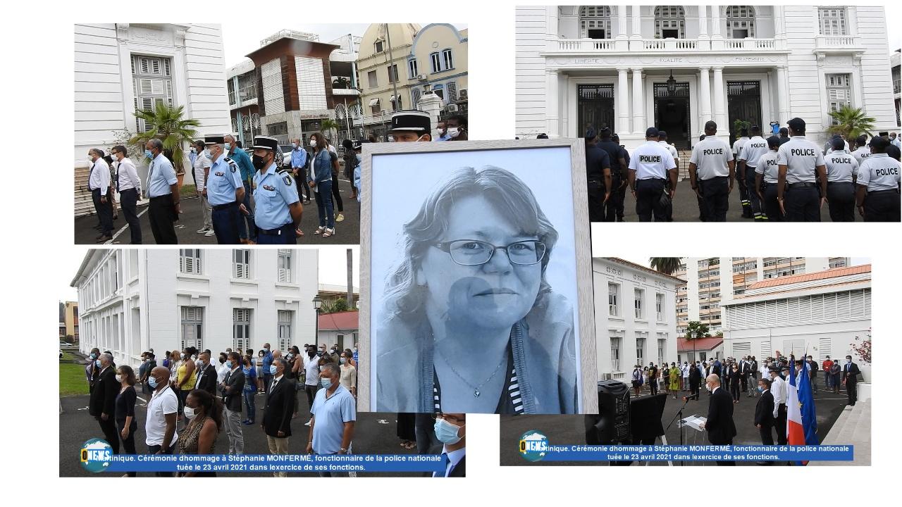 [Vidéo] Onews Martinique. Hommage à Stéphanie MONFERMÉ, fonctionnaire de la Police nationale tuée à Rambouillet