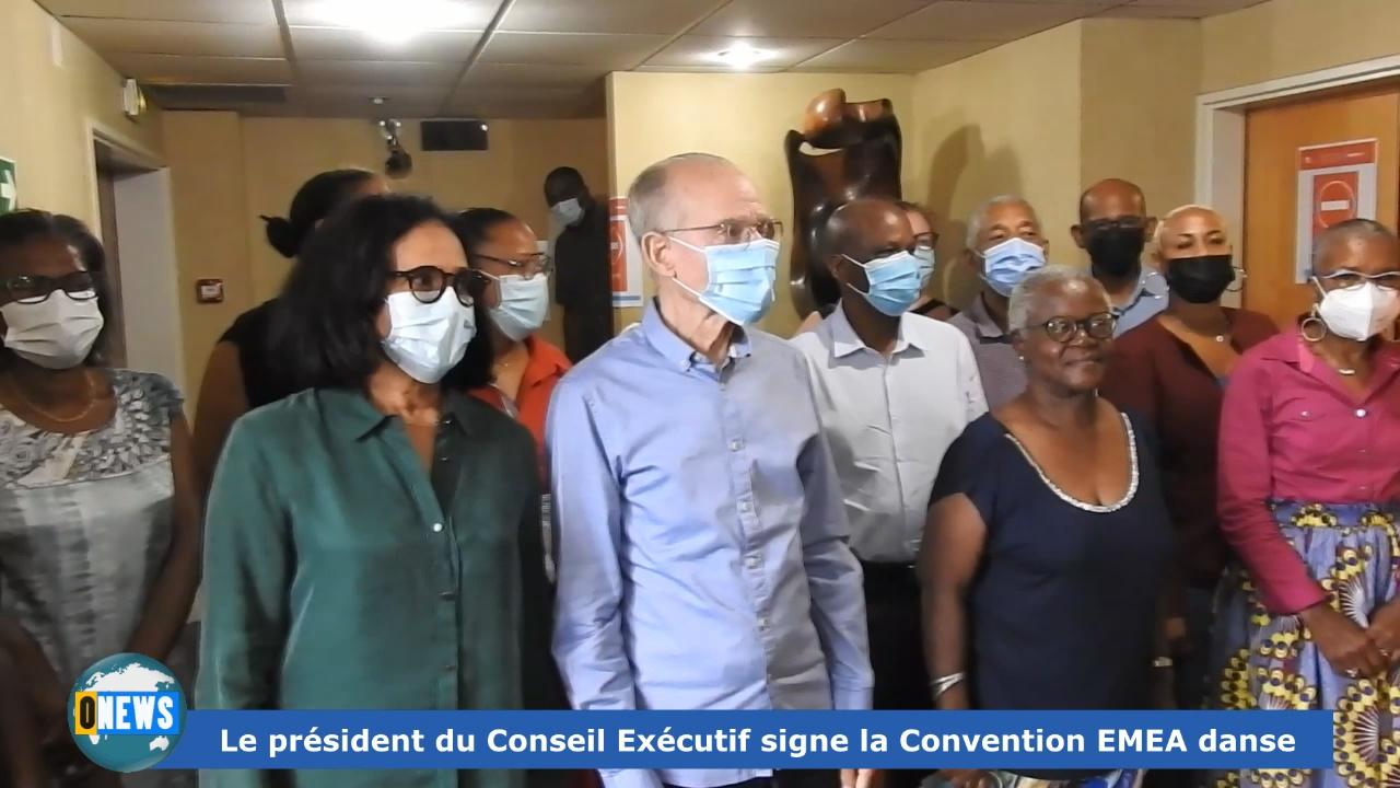 [Vidéo] Onews. Martinique. Signature de Convention entre la CTM et EMEA danse.