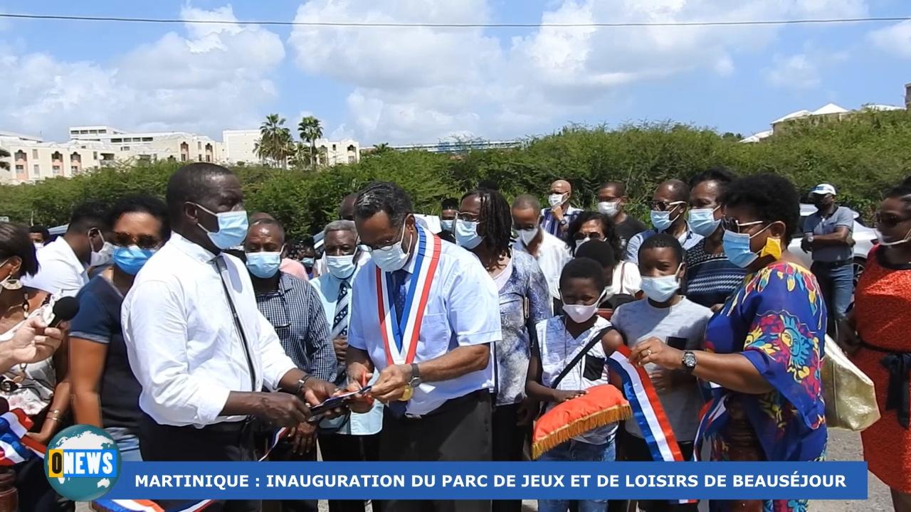 [Vidéo] Onews Martinique. Inauguration du parc de jeux et loisirs de Beauséjour (Trinité)