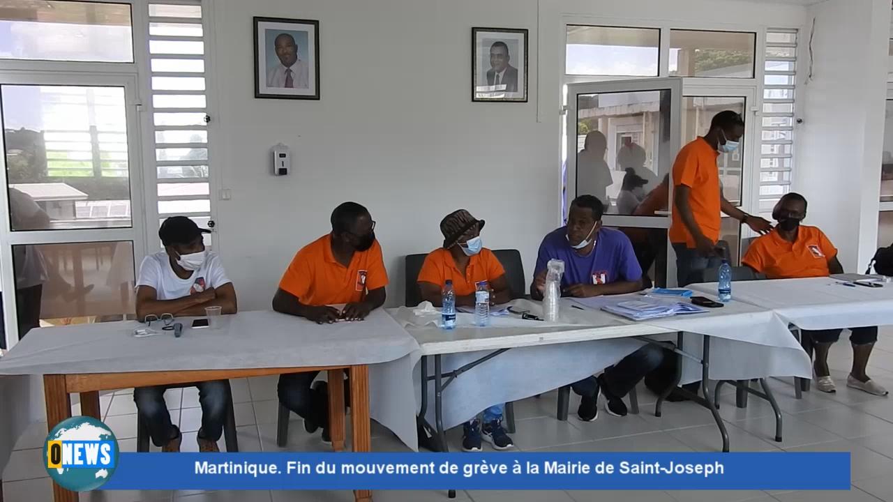 [Vidéo] Onews Martinique. Fin du mouvement de grève à la Mairie de Saint-Joseph.