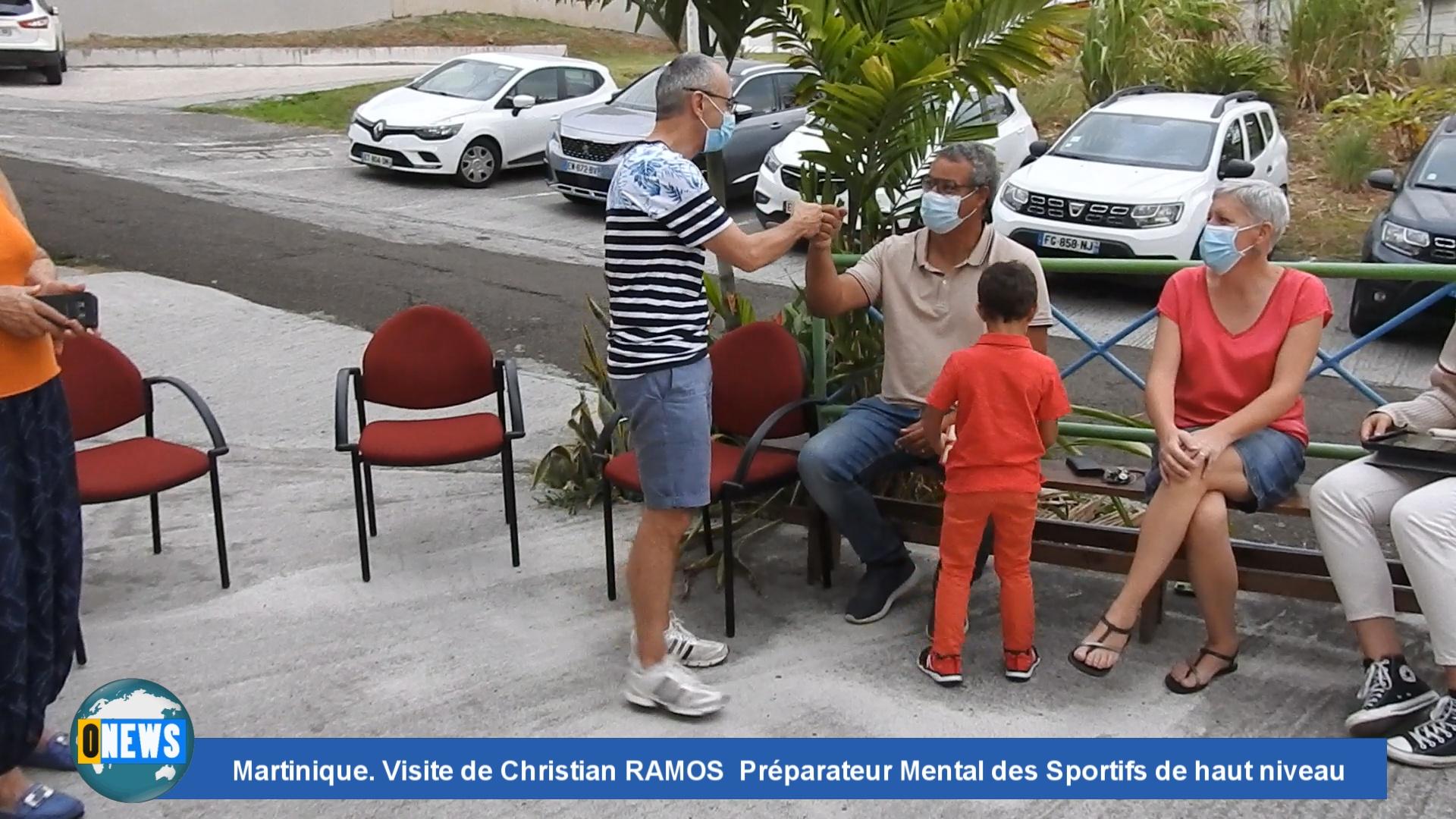 [Vidéo] Onews Martinique. Visite de Christian RAMOS Préparateur Mental des Sportifs de haut niveau