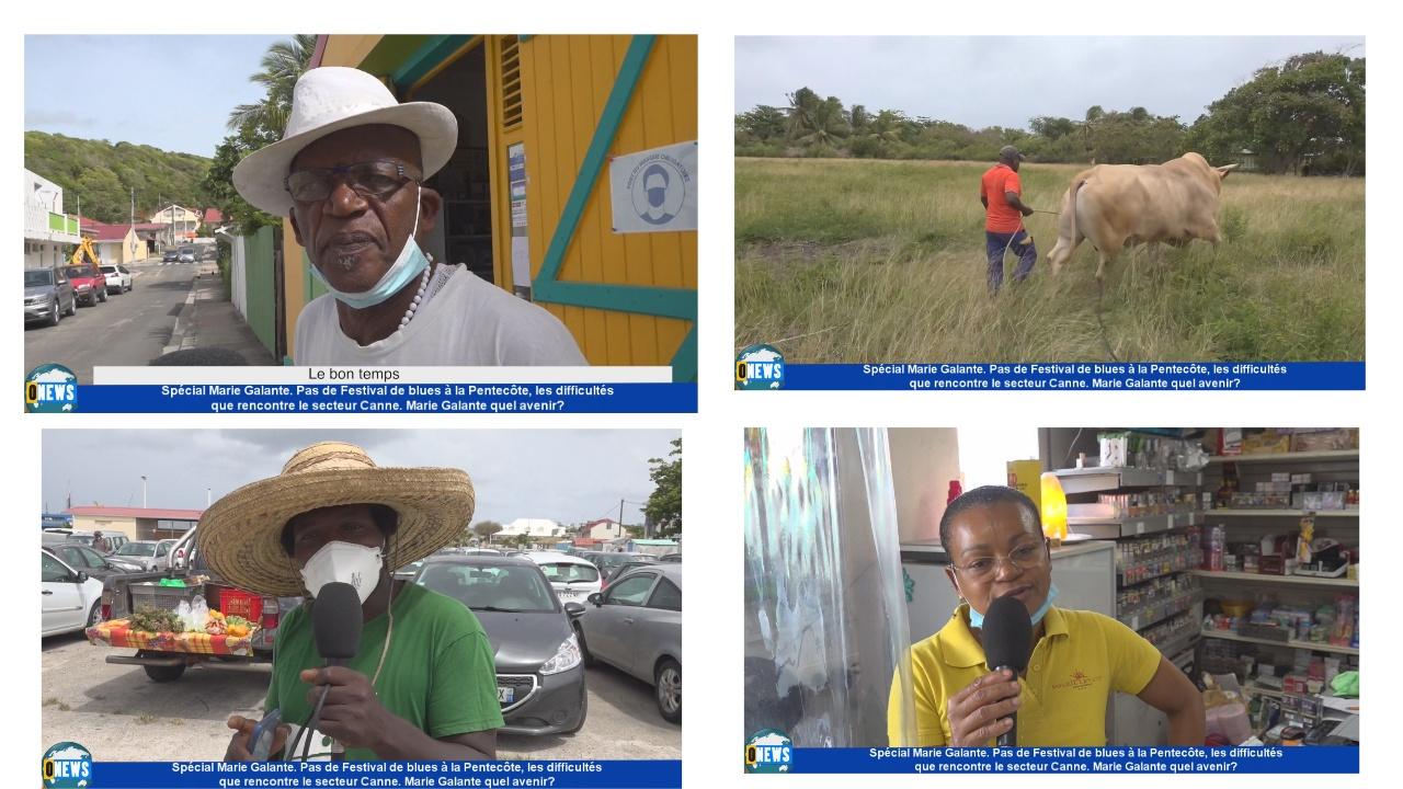 [Vidéo] Onews Guadeloupe. Spécial Marie Galante. Pas de festival terre de blues, difficultés avec le secteur Canne, Quel avenir ?