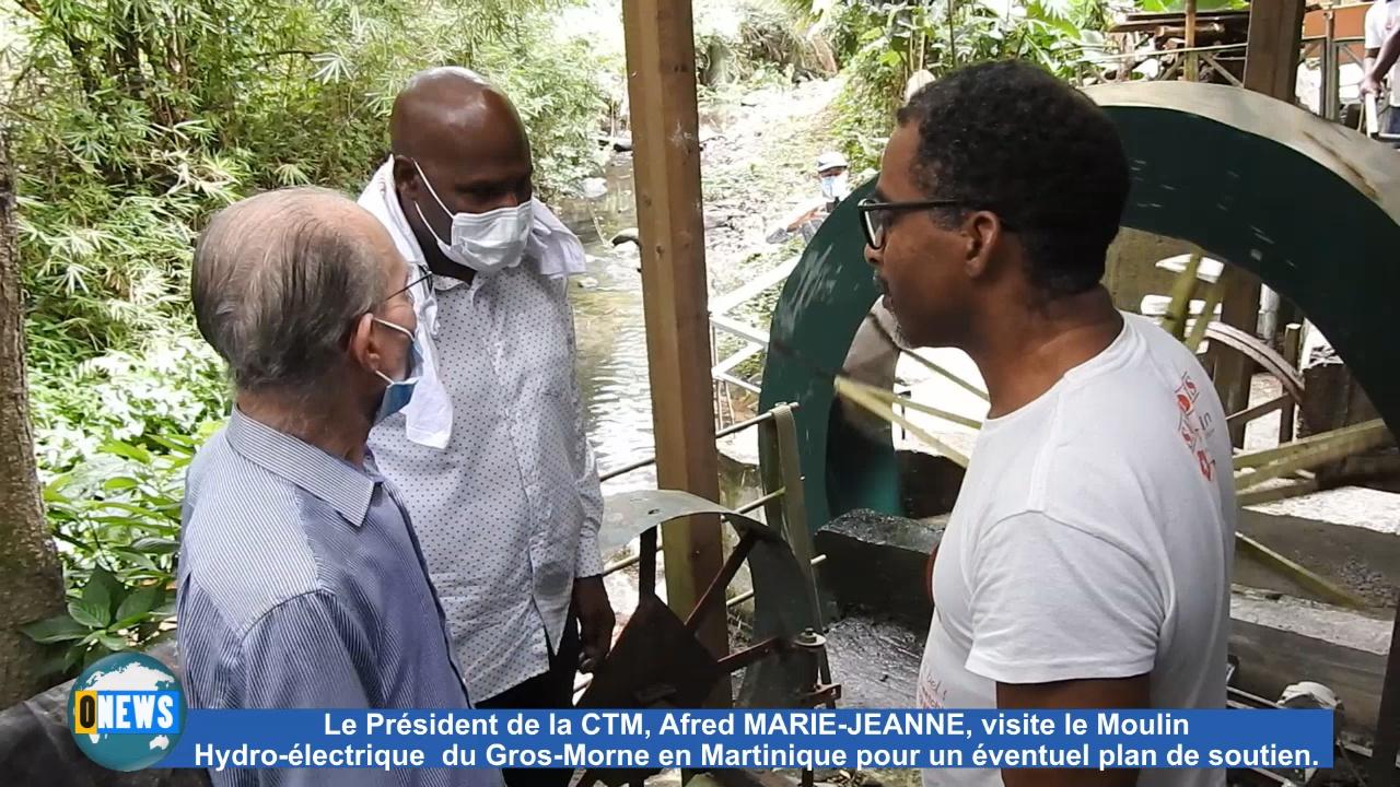 [Vidéo] Onews Martinique. Alfred MARIE JEANNE Veut sauver le Moulin Hydro-électrique du Gros Morne