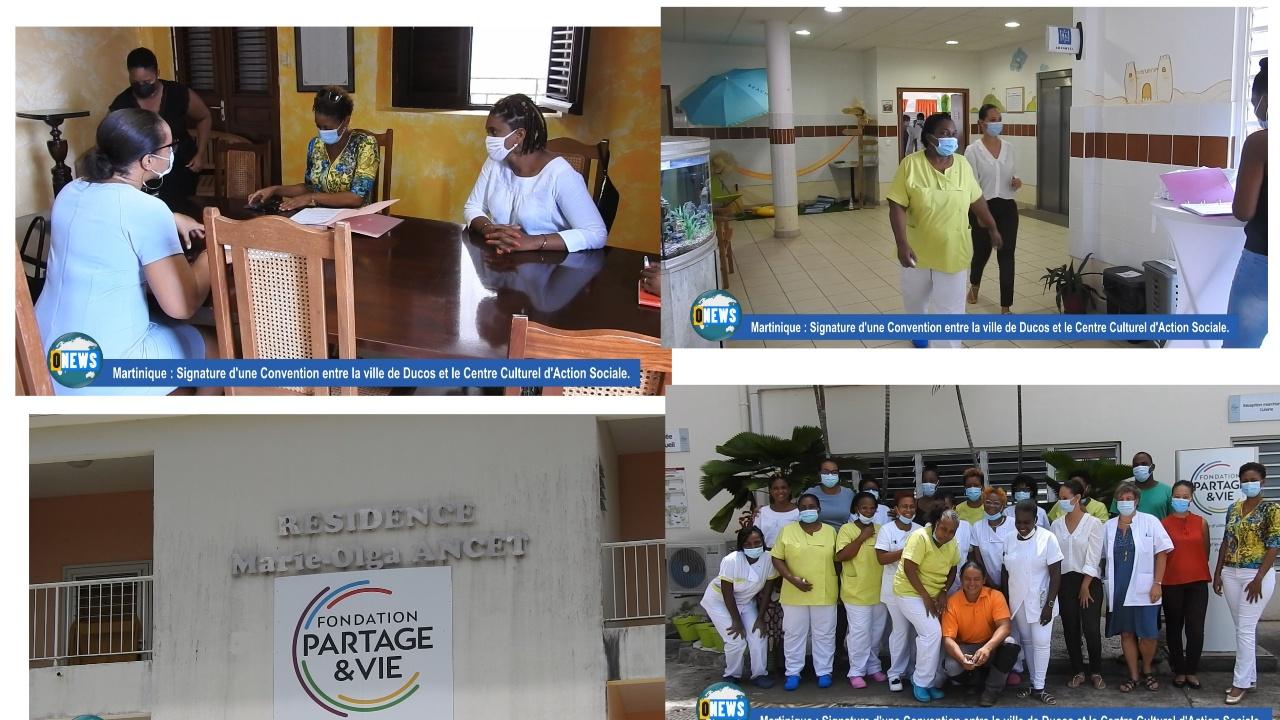 [Vidéo] Martinique. Signature d une convention entre la ville de  Ducos et le centre culturel  d action sociale