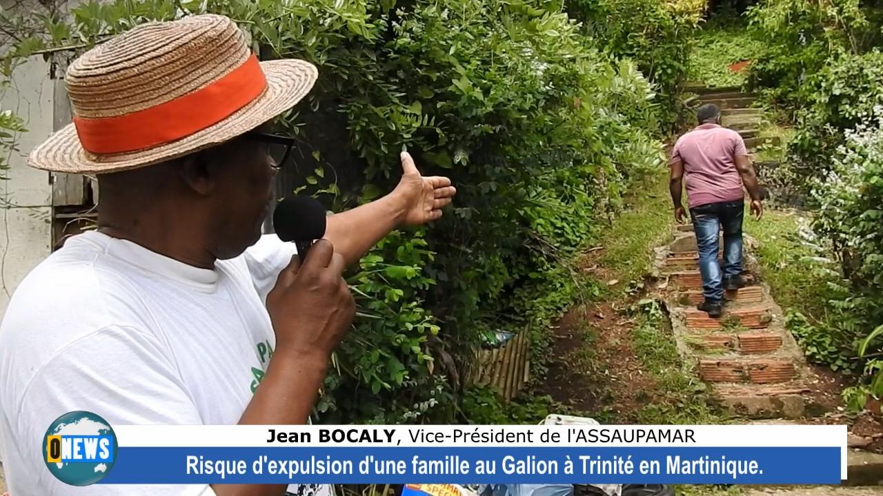 [Vidéo] Onews Martinique. Risque d expulsion d'une famille au Gallion commune de Trinité