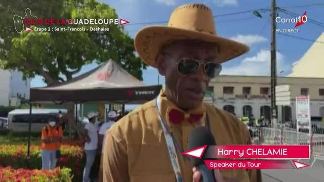 [Vidéo] Guadeloupe.70ème Tour Cycliste. Interview de la voix du tour Harry CHÉLAMIE